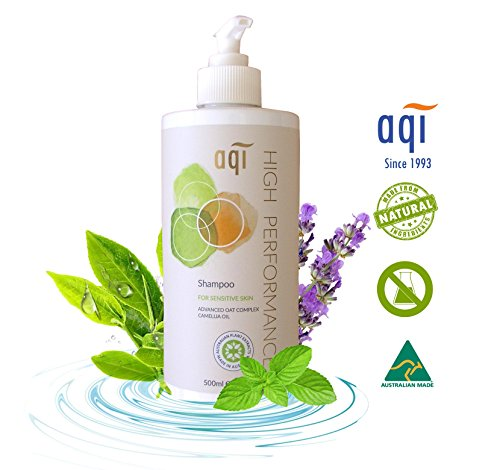 Itchy Scalp Shampoo 16.9 fl oz – Natural Essential Oil Eczema Shampoo for Dry, Colored Hair and Atopic, Dermatitis Scalp - with Camellia Oil – Sulfate and Fragrance Free - Made in Australia By AQI