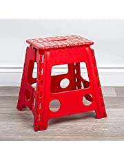 Folding Step Stool (Tall) - The Lightweight Step Opens Easy with One Flip. Great for Kitchen, Bathroom, Bedroom, Laundry Room.