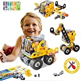 Kids Building Toys Blocks, AiToy STEM Educational DIY Building Kits for Boys Girls, 48 PCS 3-in-1...
