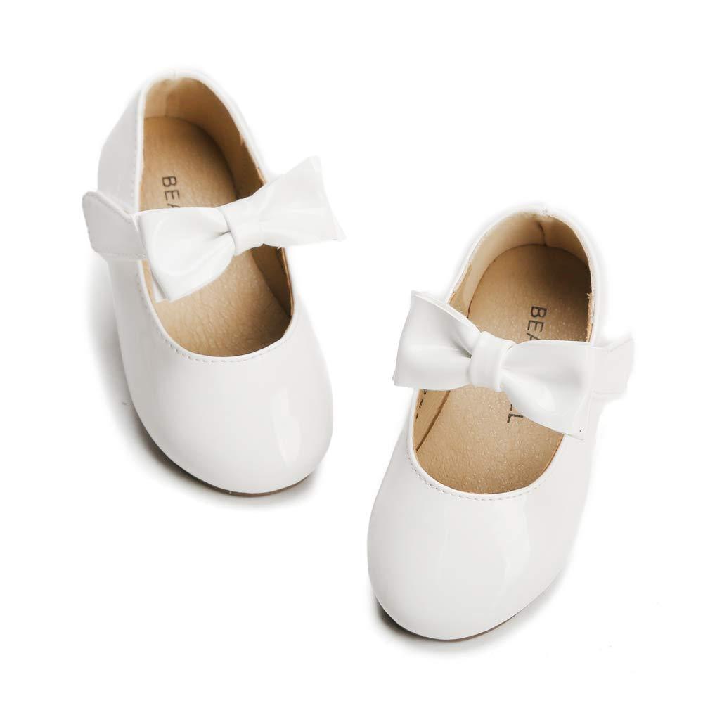 Bear Mall Girls' Shoes Girl's Ballerina Flat Shoes Mary Jane Dress Shoes (Little/Toddler Girls Shoes/Big Kids)