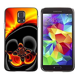 Paccase / SLIM PC / Aliminium Casa Carcasa Funda Case Cover para - Gold Hot Lava Fire Dark - Samsung Galaxy S5 SM-G900