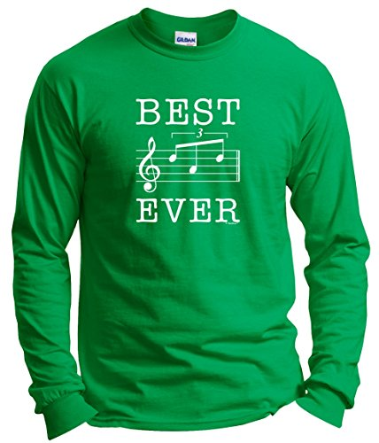 Dad Birthday Gifts for Musician Dad Gifts from Son Dad Music Gifts Best Dad Ever Dad Music Note Gift Long Sleeve T-Shirt 2XL Green