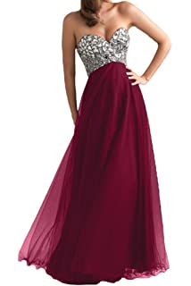 Ouman Womens Long Tulle Party Dress Prom Gown