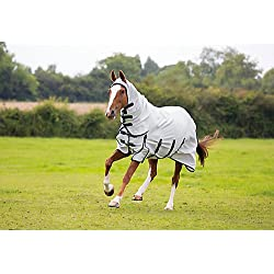Shires Sweet-Itch Combo Fly Sheet (White, 69)
