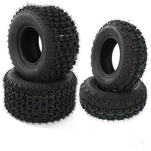 MILLION PARTS Sport ATV UTV Tires Front 20X7-10 & Rear 20X10-9 4 PLY, Set of 4