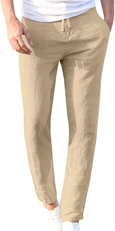 DUJIE Pantalon Deporte Hombre Recto Suelto Cinturón de algodón elástico de los Hombres Color Sólido Pantalones Largos Pantalón Multiusos En Color Liso Mezcla de algodón, M-XXXL: Amazon.es: Ropa y accesorios