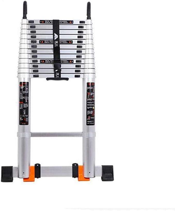 FGSJEJ Escalera Extensible de Aluminio, Escalera Plegable para el hogar, Escalera portátil multifunción, Altura de elevación de Rodillos movibles, 2,5 Metros, 3,2 Metros (tamaño: 3,2 m): Amazon.es: Bricolaje y herramientas