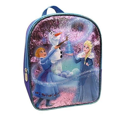 Disney Girls' Frozen Glitter Mini Children's Backpack, Purple, One ()