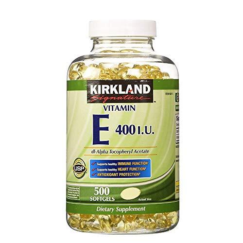 Kirkland Signature Vitamin E 400 I. U. 500 Softgels Per Bottle