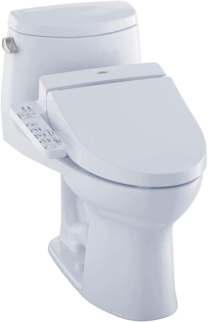 Toto Mw6042044cefg 01 Washlet Ultramax Ii One Piece Elongated 1 28 Gpf Toilet And Washlet C200 Bidet Seat Cotton White Amazon Com