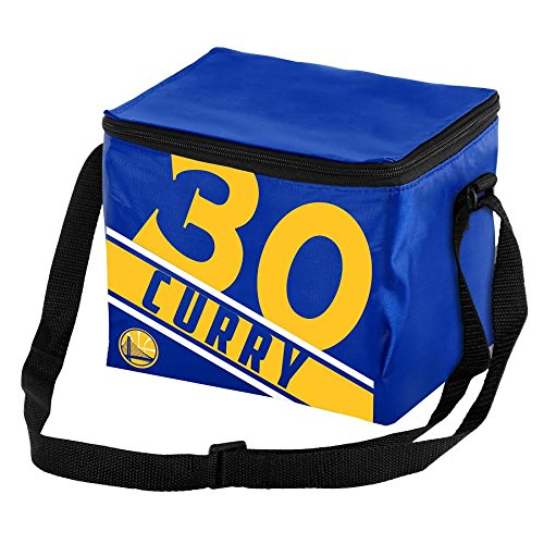 FOCO Golden State Warriors Curry S. #30 Big Logo Stripe 6 Pack Cooler -