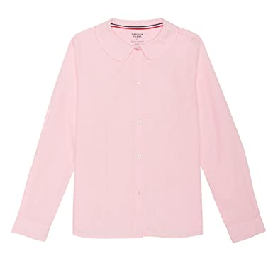 3e93d2e99bbe96 French Toast School Uniform Girls Long Sleeves Peter Pan Blouse, Pink, 5