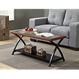 Convenience Concepts Lakeshore Coffee Table, Cherry / Black