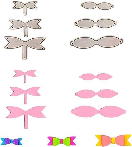 1 x Bowknot Unicorn Set of Metal Cutting Dies Stencils Card Embossing Craft Bow