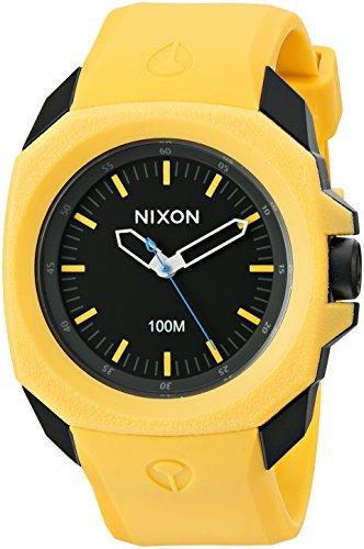 Nixon Men's 'Ruckus' Quartz Rubber and Polyurethane Casual Watch, Color:Yellow (Model: A349-887-00)