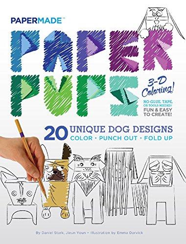 Paper Pups 3-D Coloring! (Golden Retriever Pups)