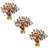 """thanksgiving table centerpieces Fall Leaves Gleam 'N Burst Centerpiece 15"""" [3-Pack]"""