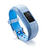 Ruentech For Garmin Vivofit jr.2 Strap SMALL Kid's Size Band, Adjustable Patterned Silicone Replacement Strap for Garmin Vivofit jr 2 kid's Activity Tracker (1PACK- A)