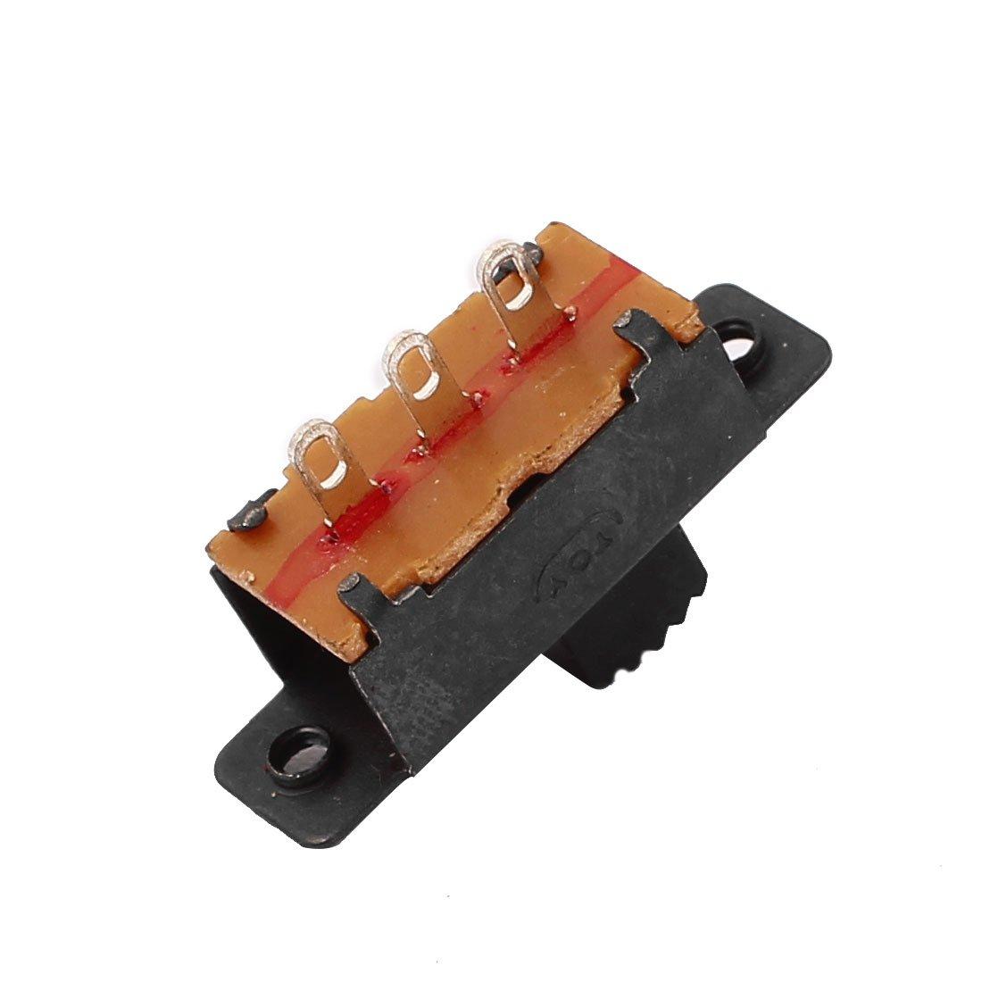 sourcing map 5 piezas de 2 Posici/ón 3P SPDT micro interruptor en miniatura de diapositiva PCB interruptor de palanca de enclavamiento