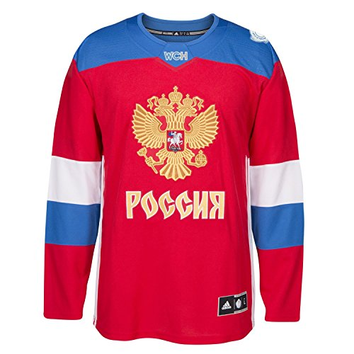 Team Russia 2016 World Cup of Hockey Adidas Youth Premier Red Jersey L/XL