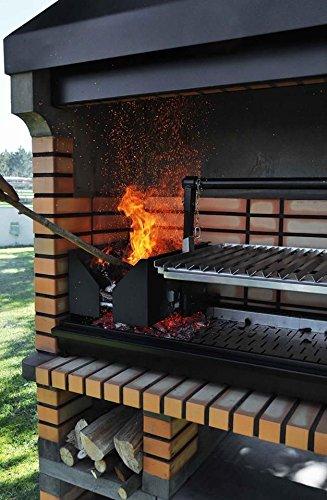 Sartén para mampostería de ladrillos American barbacoa - lo último en la madera a la vez gratinar para barbacoa: Amazon.es: Jardín