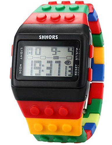 Shhors Rubber Digital Stopwatch Men's Ladies Sport Watch ()