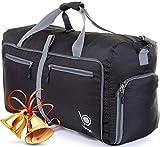 Bago Travel Duffel Bag For Women & Men - Foldable Duffle For Luggage Gym Sports (Large 27', Black)