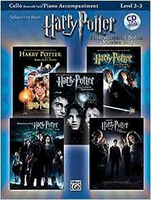 Amazon Com Harry Potter Instrumental Solos For Strings Movies 1 5 Cello Book Online Audio Sotware Pop Instrumental Solos Series 0038081318837 Galliford Bill Books