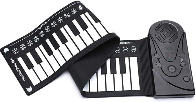 SHJMANPA Portátil 88 Teclas Roll Up Piano, Piano Portátil De ...