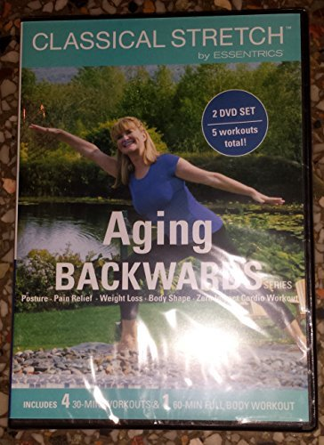 Classical Stretch by ESSENTRICS: Aging Backwards Series (Posture, Pain Relief, Weight Loss, Body Shape, Zero Impact Cardio Workout) 2 DVD Set / 5 Workouts by