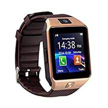 Fu&y Bill DZ09 Bluetooth Smart Watch with Camera WristWatch SIM/TF Card Smartwatch for Android ios Phones Wearable Devices (Gold)