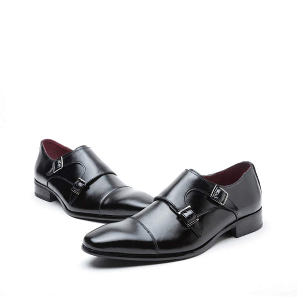 Svarta enkla Go Shopping Casual läder skor Business skor skor skor Män's Cricket skor (färg  svart, Storlek  44)  upp till 60% rabatt