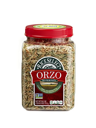RiceSelect Orzo Tri-Color Pasta, 26.5-Ounce (Pack of 4) (Couscous Pasta)