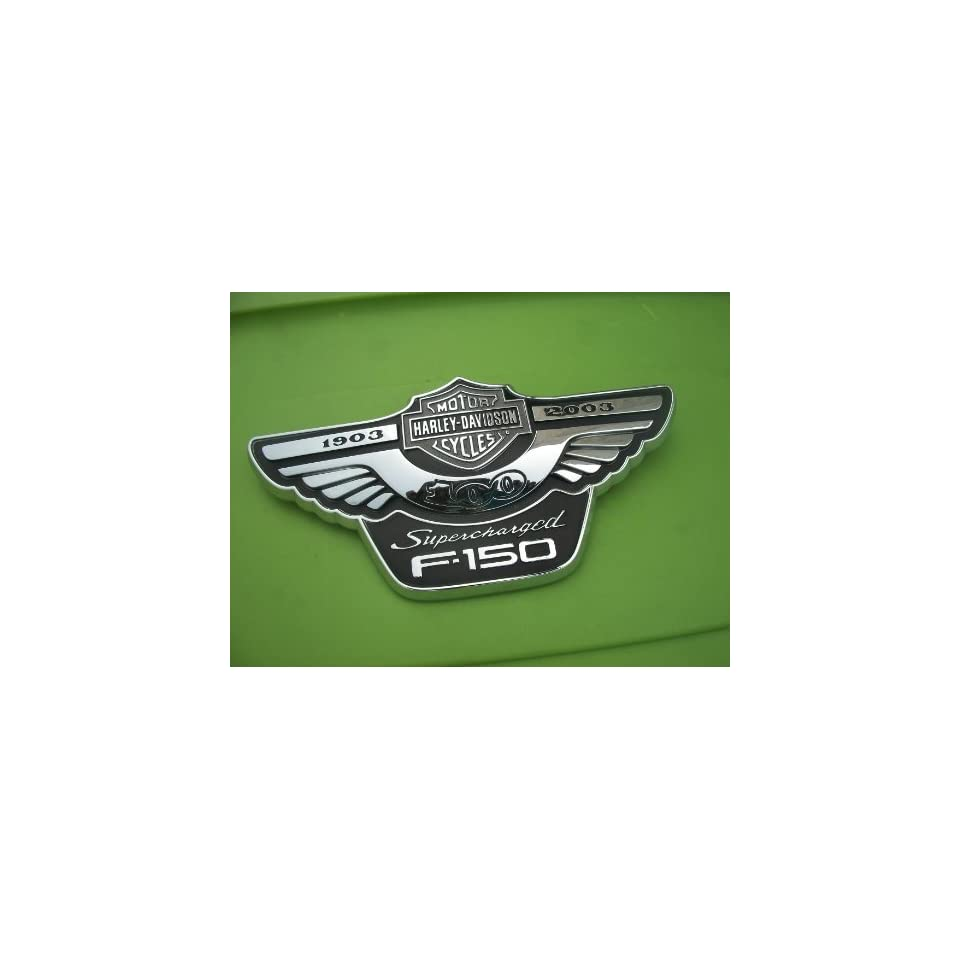 FORD TRUCK HARLEY DAVIDSON SUPERCHARGED F150 ANNIVERSARY EMBLEM GENUINE OEM 16B114/115AA F 150 16B114/115BA LOBO