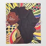 Society6 Alkebulan (Africa) Throw Blankets 88'' x 104'' Blanket