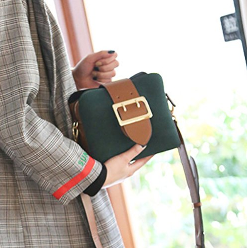 Casual Fashion Bag Messenger Bags Vintage Green Shoulder Handbags Ladies 1xRFqO
