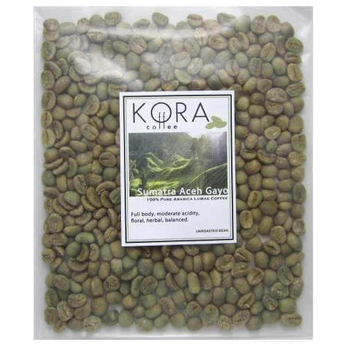 100% Pure Authentic Sumatra Aceh Gayo Arabica Kopi Luwak Civet Unroasted Green Coffee Bean 4 Oz