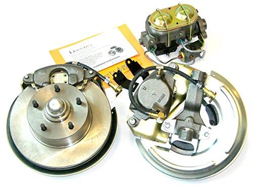 Compatible With 69 Camaro Firebird Front Manual Disc Brake Conversion Caliper Rotor Wheel Kit