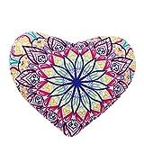 Lisin 1PC Pillow case,2530cm Indian Mandala Pillows Round Bohemian Home Cushion Pillows Cover Case Cushions (A)