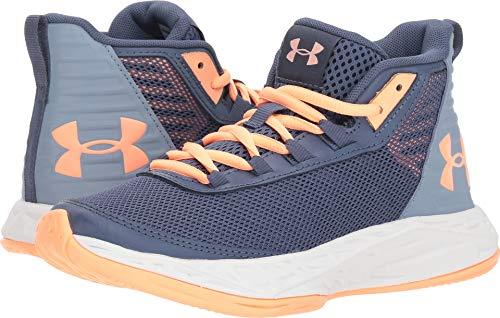 Under Armour Girls' Grade School Jet 2018 Basketball Shoe, Utility (500)/Washed Blue, - Jordan Kids Basketball Shoes Big