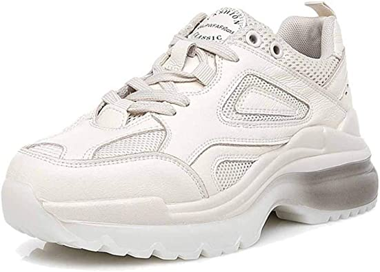 Fondo Grueso Carreras para Correr Zapatillas De Deporte Chunky Sneakers De Primavera Zapatillas De Deporte Retro Gimnasio Zapatillas De Deporte para Estudiantes: Amazon.es: Zapatos y complementos
