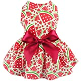 Fitwarm Sweetie Watermelon Pet Clothes for Dog Dress Sundress Shirts - Red - Small