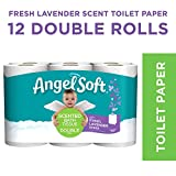 Angel Soft Toilet Paper, Lavender Scent, 12 Double Rolls, 12 = 24 Regular Rolls (Packaging May Vary)