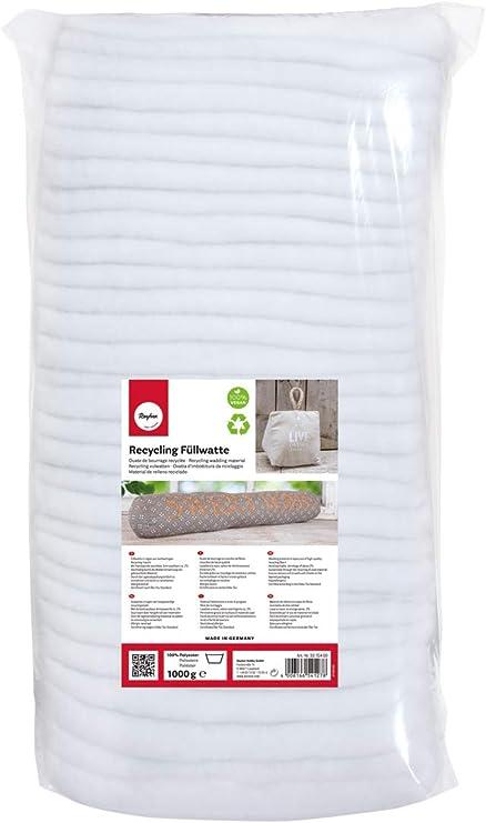 Rayher 3315400 Algodón de relleno reciclado, en capas, tejido, material de poliéster, bolsa 1 kg: Amazon.es: Hogar