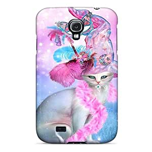 Fashion Case For Galaxy S4- Cat In Fancy Witch Hat Defender Case Cover
