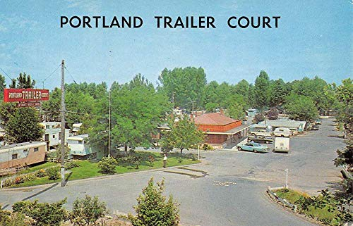 Portland Oregon Trailer Court Birdseye View Vintage Postcard K102799