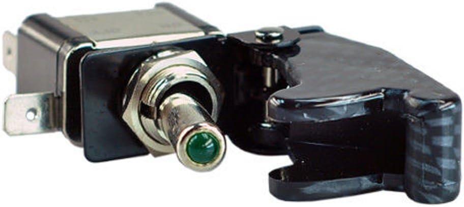 Supmico 5 X KFZ Auto Boot Gr/ün LED Beleuchtet Schalter EIN//AUS Wippenschalter Kippschalter 12V 20A Kohlefaser