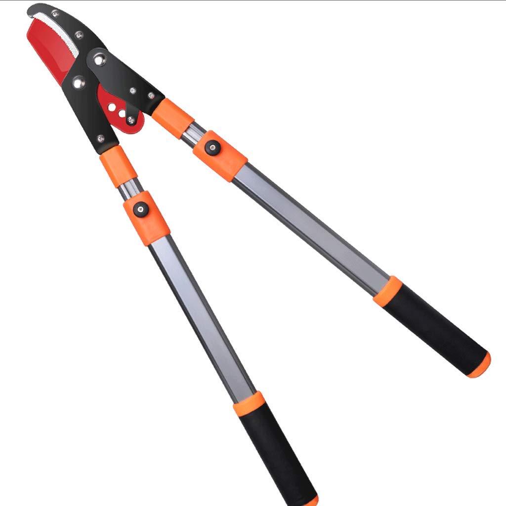 Zcx Gardening Thick Branches Shears Retractable Branches Labor-Saving Scissors Garden Tools (Color : Orange)