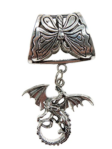 dragaon pendant slide tube set scarf tubes and pendants ()