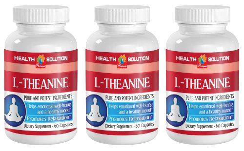 Sleeping aid All Natural - L-Theanine 200MG - Promotes Relaxation - Nitric Oxide activator - 3 Bottles (180 Capsules) (Nitric Activator Oxide)